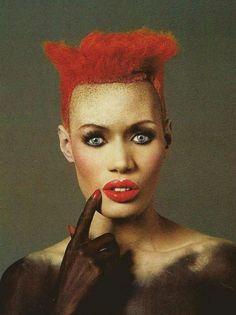 Ginger right now i need a carrot cake Grace Jones by David Lachapelle, bien avant la jolie môme Rihanna David Lachapelle, Grace Jones, Ms Jones, Jean Paul Goude, Culture Art, Foto Fashion, Jones Fashion, High Fashion, Nina Hagen