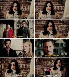 """Regina, David, Emma and Hook - 4 * 18 """"Sympathy for De Vil"""""""
