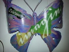 Upcycled vintage butterfly