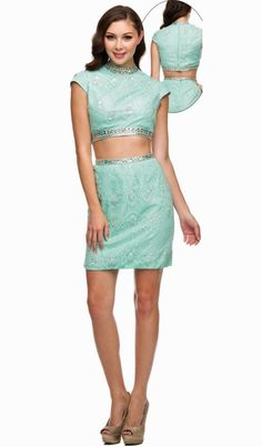 This is a new style two-piece prom dress. It is made with satin and beaded lace decorated with sparkling beads. This is a perfect mini dress for a prom, homecoming, graduation, military ball and any special occasion. Sizes available: XS - 2XL Color: Mint, Bashful Pink Embellishments: stones, beads Usually ship within 2-3 working days. We ship worldwide. Lowest price guarantee! Compare prices!  #minipromdress #promdresses #two-piecepromdress #glamourforless #fashionprom #homecomingdress