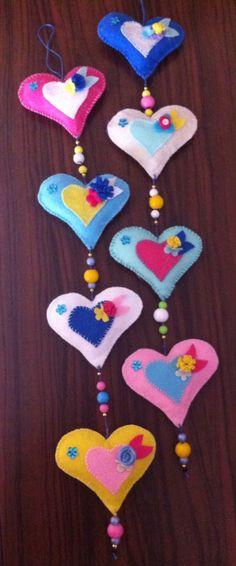 Dertdeva Teyze Products handmade felt hearts