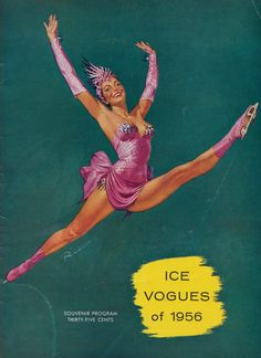 Ice Vogues vintage skating program with pin up ice skater by Ruskin Williams, 1956.