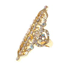 Katy Perry PRISM Gold Crystal Filigree Ring