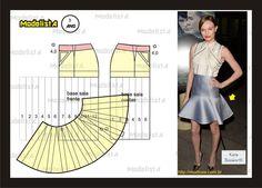 Modelagem de Saia rabo de peixe. Fonte: https://www.facebook.com/photo.php?fbid=565278996841343=a.426468314055746.87238.422942631074981=1