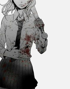 Manga girl doesn't have always about beautiful. Manga Girl, Manga Anime, Sad Anime, Anime Girls, Anime Triste, Image Manga, Noragami, Anime Style, Dark Art