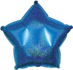 "18"" Dazzeloon Blue Star Shape Balloon Wedding Baby Shower Birthday Holographic"