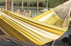 Dunes Hammock Lime Large (double) : Quality Hammocks and Hanging Chairs, Marañon World of Hammocks Wicker Patio Furniture, Diy Furniture Plans, Backyard Hammock, Hammocks, Hammock Ideas, Patio Installation, Door Accessories, Diy Patio, Patio Doors