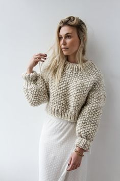 Knitwear Fashion, Knit Fashion, Cute Fashion, Look Fashion, How To Purl Knit, Knitting Designs, Ethical Fashion, Cropped Sweater, Wool Sweaters