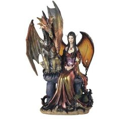 Fairy Collection Pixie With Dragon Fantasy Figurine