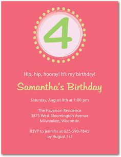 Tea party party invitations party ideas pinterest tiny circle countdown medium pink studio basics birthday party invitations in medium pink filmwisefo Image collections