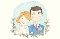 CUSTOM COUPLE ILLUSTRATIONS + GIVEAWAY