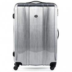 FERGÉ carry-on+24m - XB-04 - Dijon aluminium-look ABS&PC Reisegepäck Koffer & Trolleys