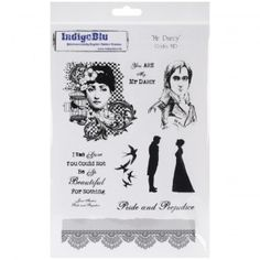 Cling Mounted Rubber Stamp Mr Darcy