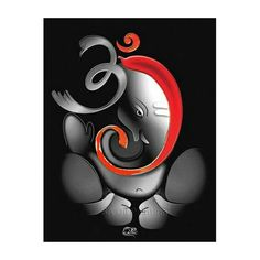 Hand-painted Om Ganesha Ganpati Oil Painting On Canvas Abstract Cartoon Oil Painting Wall Art Home Decoration Fine Picture Ganpati Drawing, Ganesha Drawing, Lord Ganesha Paintings, Ganesha Art, Krishna Painting, Abstract Canvas, Oil Painting On Canvas, Tulip Painting, Poster Rangoli