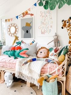 Kids playroom ideas - helping charity I've been thinking about how I can help with donating to the d Baby Bedroom, Girls Bedroom, Nursery Neutral, Neutral Nurseries, Nursery Decor, Themed Nursery, Jungle Theme Nursery, Kids Room Design, Little Girl Rooms