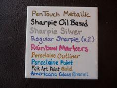 Sharpies on Ceramics