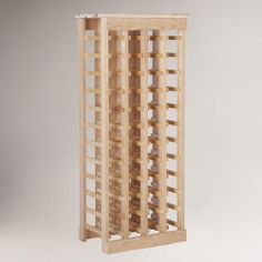One of my favorite discoveries at WorldMarket.com: Pine 44-Bottle Wine Rack