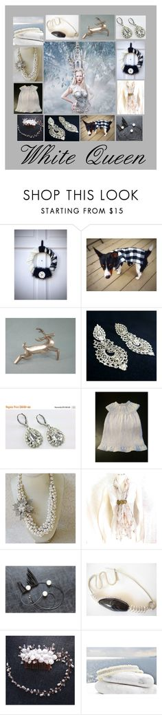 """White Queen: Unique Handmade Wedding Gifts"" by paulinemcewen ❤ liked on Polyvore featuring Tela Beauty Organics"