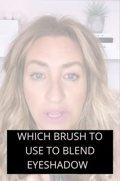 Use this brush to blend your eyeshadow like a pro #foryoupage #womenover40 #makeuptipsandtricks Makeup Tips, Eye Makeup, Blending Eyeshadow, Over 40, Best Foundation, Natural Makeup, Makeup Looks, Women, Makeup Eyes