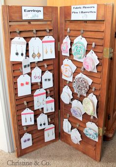 Shutters as a Craft Show Display