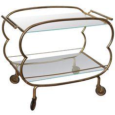 Mid Century Modern Bronze Bar Cart. Retail Price: $1730. Housing Works Price: $795. Courtesy of Arlene Angard.