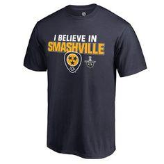 Men's Nashville Predators Fanatics Branded Navy 2017 Stanley Cup Playoffs Smashville T-Shirt