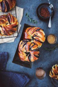Rezept für kleine Hefekränze mit Schokoladenfüllung – twisted chocolate buns