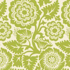 Heirloom HOME DEC by Joel Dewberry, Blockprint Blossom in Green