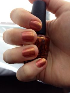 Ombré Nails: OPI Hands Off My Kielbasa! with OPI A Woman's Prague-Ative.