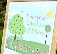 Garden of Eden themed birthday party with Lots of Really Cute Ideas via Kara's Party Ideas KarasPartyIdeas.com invitaion, decor, cake, favor...