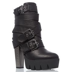 V-Luxury Womens Closed Toe High Heel Platform Ankle Bootie Shoes Platform High Heels, High Heel Boots, Heeled Boots, Shoe Boots, Dream Shoes, Crazy Shoes, Goth Shoes, Shoes Heels, Ankle Strap Heels