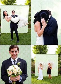 DIY photobooth backdrop for wedding with fabric