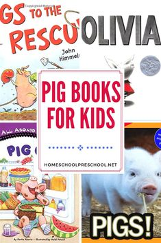 Preschoolers will squeal with delight when you present them with this collection of pig books for preschoolers. Perfect for your farm-themed lessons! Preschool Books, Preschool Themes, Preschool Kindergarten, Reading Activities, Infant Activities, Best Children Books, Childrens Books, Fun Learning, Teaching Kids