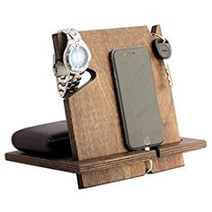 Amazon.com: Wooden iPhone Docking Station, Christmas Gifts For Men, Dad, 5th Anniversary Gifts For Him, Fathers Day Gifts, Works With ALL iPhone models, Android (Espresso-non personalized): Cell Phones & Accessories