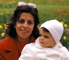 Athina Onassis Roussel as a baby with her mother Christina Onassis