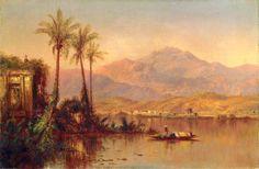 "Louis-Rémy Mignot (American, 1831 – 1870), ""Vespers, Guayaquil River, Ecuador (South American Scene)"""