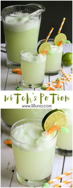 Potion Witch's Potion Drink Recipe ~ A chilled Lime and Pineapple mixture that is bubble and perfect for your next Halloween party!Witch's Potion Drink Recipe ~ A chilled Lime and Pineapple mixture that is bubble and perfect for your next Halloween party! Halloween Cocktails, Halloween Desserts, Hallowen Food, Halloween Goodies, Halloween Food For Party, Halloween Birthday, Fall Halloween, Halloween Party Appetizers, Witch Party