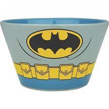 *NEW* Stoneware CERAMIC Cereal BOWL Retro DC Comics BATMAN Iconic COSTUME