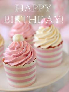 Happy birthday! #happybirthday #birthday #cupcakes