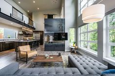 Open Spaces, Large Windows Create Serendipity in Oregon - http://freshome.com/serendipity-house-oregon/