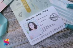 18th Birthday Passport Type Invitation - Stunro CreativeWorks Passport Invitations, Debut Invitation, Birthday Invitations, 25th Birthday, Birthday Celebration, Debut Ideas, 18th, Type, Diy