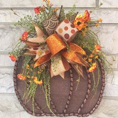 Browse unique items from on Etsy, a global marketplace of handmade, vintage and creative goods. Browse unique items from on Etsy, a global marketplace of handmade, vintage and creative goods. Dollar Tree Decor, Dollar Tree Crafts, Fall Arts And Crafts, Fall Projects, Wreath Crafts, Thanksgiving Crafts, Fall Wreaths, Halloween Crafts, Making Ideas