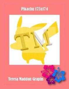 (4) Name: 'Crocheting : Pikachu Silhouette 175x174