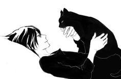 Manga Boy.  He has a kitty