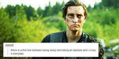 John Murphy and tumblr text posts by bellblake || The 100 || Richard Harmon