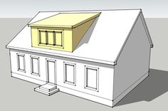 Shed Dormer: This dormer also has a flat roof but the roof slopes downward at an angle somewhat less than that of the surrounding roof. A dormer is a structural element of a building that protrudes from the plane of a slopingroof surface. Dormer Roof, Shed Dormer, Dormer Windows, Attic Rooms, Attic Spaces, Attic Bathroom, Bathroom Kids, Attic Renovation, Attic Remodel