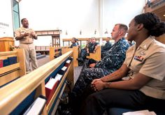 Master Chief Culinary Specialist Rory Bacon speaks at Joint Base Pearl Harbor-Hickam during a African American History Month event. U.S. Navy photo by MC2 Dustin W. Sisco