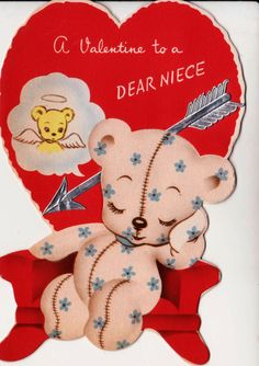 Vintage Valentine Bear!