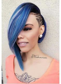 Lovely Weave Bob Hairstyles with Side Part