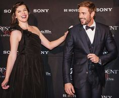 Mila Jovovitch and William Levy at the premier of Resident Evil - The Final Chapter